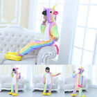 Kids Boy Girl Rainbow Unicorn Kigurumi Animal Cosplay Costume Pajamas Sleepwear