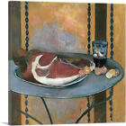 ARTCANVAS Still Life With Ham 1889 Canvas Art Print by Paul Gauguin