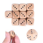 10pcs original wood dice 16mm kid toys game 6 sided dice number or point Pip