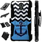 For Alcatel TCL LX A502DL Holster Case Armor Kickstand Phone Cover LuxGuard E5