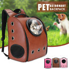 Dog Cat Leather Backpack Pet Carrier Astronaut Capsule Breathable Travel Bag USA