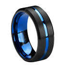 Sz8-13 Tungsten Steel Black Plating Men's Fashion Ring Women's Wedding Band image