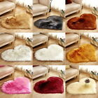 Plain Soft Fluffy Faux Fur Sheepskin Rug Rugs Hairy Washable Mat Non Slip Carpet
