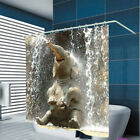 Внешний вид - 1x 3D Elephant Waterproof Shower Curtain Bathroom Creative Polyester 180x180cm