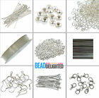 Jewellery Making Starter Kit Silver Plated Findings Tigertail Headpins & Beads