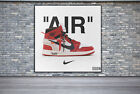 Air Jordan 1 Off White Chicago Design Wall Art Canvas Print Poster