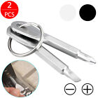 2pcs Mini Pocket Screwdriver Set with Keychain Outdoor Tool Kit Stainless Steel