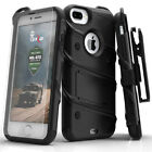 Zizo BOLT Case for iPhone 8 Plus, 7 Plus, 6S Plus w/ Holster and Tempered Glass