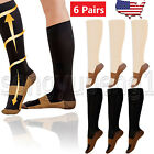 Kyпить 6 Pairs Copper Infused Compression Socks 20-30mmHg Graduated Mens Womens S-XXL на еВаy.соm