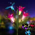 Lily Flower Solar Powered Garden Stake Light Multi-color Change LED Light