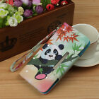 maple leaf Panda Bling wallet Leather case cover strap for iphone XS XR X MAX 8