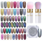 Holographicss Mirror Nail Glitter Powder  Cat Eye Magnetic Pigment Tips