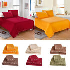 Home Living Cover Bed Flat Sheets + Pillow Covers Bedding Set Practical G8G7 image