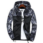 Mens Waterproof Hiking Jacket Coat Winter Ski Outdoor Sport Raincoat Hoodie Tops