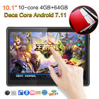 """10.1"""" 7''Tablet PC 4 64G Android 7.11 Deca-Core WIFI 2 SIM Camera Phone Phablets"""