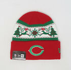 NEW ERA NFL Chicago Bears Christmas Holiday Red Green Knit Cap Adult Beanie Hat $20.0 USD on eBay
