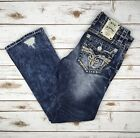 Mens Rock Revival Jeans Low Rise Scion Slim Bootcut 28 29 30 31 32 33 34 36
