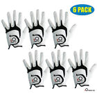 Cabretta Leather Golf Glove Men's 6 Pack No-Slip White Left Hand Right Fast Ship