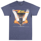 ZZ TOP ELIMINATOR ALBUM T-SHIRT ATHLETIC GREY MENS ROCK MUSIC TEE LICENSED image