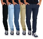 Внешний вид - Mens Stretch Skinny Slim Fit Chino Pants Flat Front Casual Super Spandex Trouser