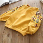 US Baby Kids Girl Floral Long Sleeve Sweatshirt Casual Toddler Outerwear Clothes