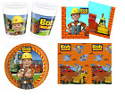 Bob the Builder Kids Birthday Party Tableware Set Cups Plates Tablecloth Napkins
