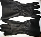"""GLOVES #7998 5"""" Cuff Renaissance SCA Musketeer Sword Black Pirate Leather Larp"""