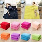 Faux Fur Fleece Throw Soft Warm Mink Large Sofa Bed Blanket 16 Colours 3 Sizes image