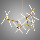 Gold 10/14/20 Lights  Ceiling Fixture Metal Acrylic Branch Chandelier Lamp
