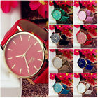 Women Fashion Leather Band Watch Analog Quartz Round Simple Dial Wrist Watches image