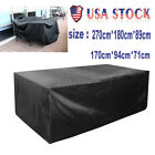 Garden Patio Furniture Cover Waterproof Rectangle Outdoor Table Cover black US