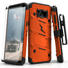 Zizo BOLT Case for Samsung Galaxy S8 w/ Holster and Tempered Glass