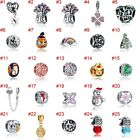 European Silver Charms Flowers Beads CZ Xmas Pendant Fit 925 Sterling Bracelets image