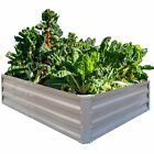 Galvanized Raised Garden Beds Vegetables Metal Planter Boxes Outdoor Patio Bed