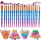 20 PCS Unicorn Make up Brushes Set Foundation Eyeshadow Lip Powder Makeup...
