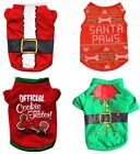 Cartoon Christmas Xmas Costume Dogs T-Shirts Puppy Pets Party New Year Clothes