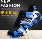 New Men's Flood prevention Anti-piercing Breathable Steel Toe Safety Work Shoes