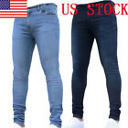 Mens Fashion Hip- Jeans Straight Mid Waist Slim Long Pencil Pants Trousers GIFT