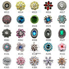 Pretty Charm Crystal Chunk Ginger Snap Button Fit For 18mm Noosa Jewelry  image