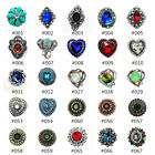 Hot Charm 3D Crystal Chunk  Snap Button Fit For Noosa Necklace/Bracelet Jewelry image
