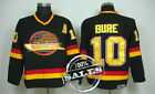 Vancouver Canucks Vintage Hockey Jerseys 10 Pavel Bure CM Throwback Jersey S 3XL