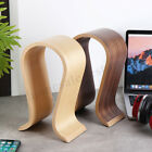 U Shape Wood Headphone Earphone Stand Hanger Holder Desk Display Shelf Rack New