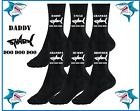 Shark Doo Doo Doo Daddy Grandad Uncle Brother Sister birthday novelty gift Socks