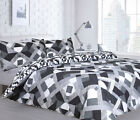 NFUSION GEO PRINT  DUVET QUILT COVER BEDING SET AND PILLOWCASES . B41