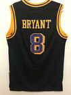 Kobe Bryant #8 Los Angeles Lakers Vintage Black Throwback Stitched Jersey Men's