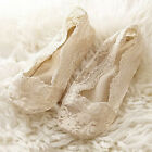 US Women Antiskid Invisible No Show Loafer Boat Liner Low Cut Lace Socks 5 Pairs