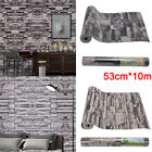 3d Stone Textured 10m Slate Brick Effect Wallpaper Bedroom Living Room Tv Wall