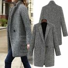 Womens Casual Overcoat Cardigan Trench Coat Long Button Duster Jacket Outwear US