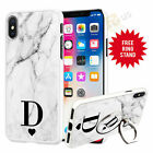 Personalised Marble Initials Phone Case Cover For iPhone Samsung Huawei 028-4