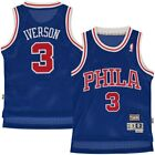 BOYS SIZES 8-20 Allen Iverson Philadelphia 76ers Sixers BLUE Throwback Jersey on eBay